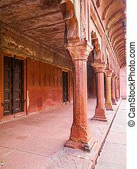 agra, mughal, indie, architektura