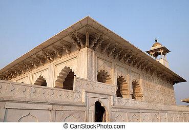 agra., uttar pradesh, 赤い要塞, インド