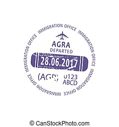 Agra visa stamp, departure from India admitted