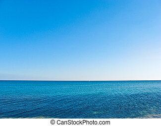 agradável, crimean, praia, em, a, verão, afternoon.