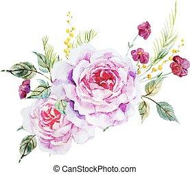 agradável, rosas