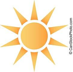 agradável, sol, logotipo
