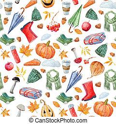 agradable, otoño, patrón