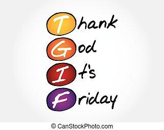 agradecer, dios, tgif, viernes, -, es