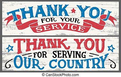 agradecer, madera, servicio, señales, su, usted