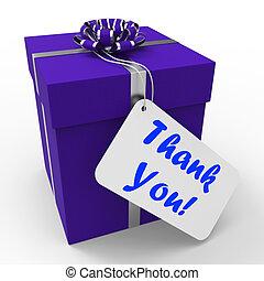 agradecer, regalo, medios, agradecido, agradecido, usted
