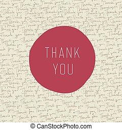 agradecer, vindima, saudação, vetorial, tu, card.