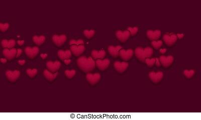 agrafe, pourpre, valentines, rue, vidéo, cœurs, jour
