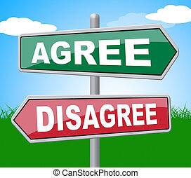 Agree Disagree Showing All Right And Refuse
