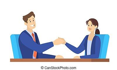 agreement., 握手しなさい, 結果, 2人の人々