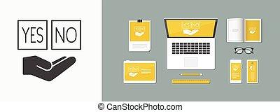 Agreement box - Minimal vector icon