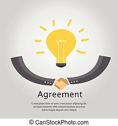 Agreement Business Handshake.  Vector Illustration.