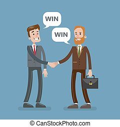 agreement., businesspeople, 取引