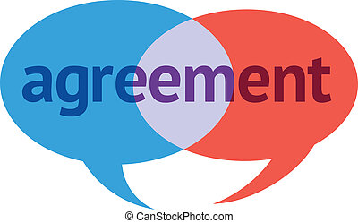 Agreement Dialog - Two Intersecting Speech Bubbles With the...