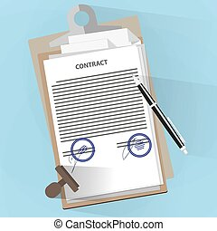 Agreement documents concept