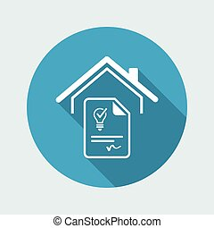 Agreement for the supply of electricity - Vector web icon