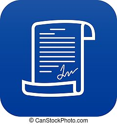 Agreement icon blue vector