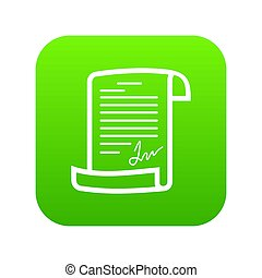 Agreement icon green