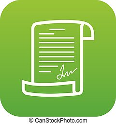 Agreement icon green vector