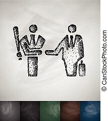 agreement icon. Hand drawn vector illustration