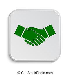 Agreement icon. Internet button on white background.