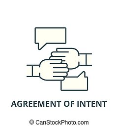 Agreement of intent vector line icon, linear concept, outline sign, symbol