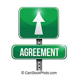 agreement road sign illustrations design