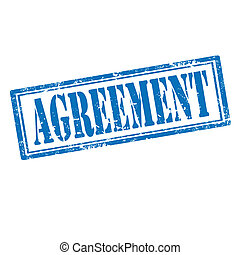 Agreement-stamp - Grunge rubber stamp with text...