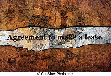 Agreement to make lease grunge concept