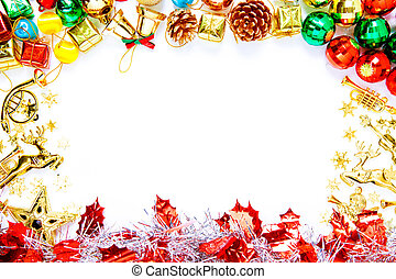 agremanger, utrymme, text, ram, utsmyckningar, avskrift, jul