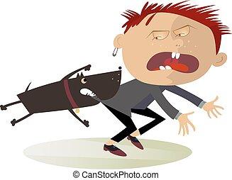 agresivo, attention!, perro