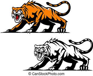 agresivo, tigre