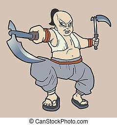 agressive, caricatura