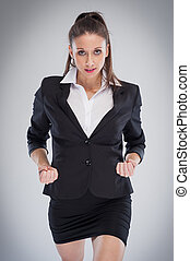 Agressive Corporate Woman Ready To Do Business