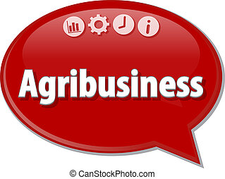 Agribusiness Business term speech bubble illustration