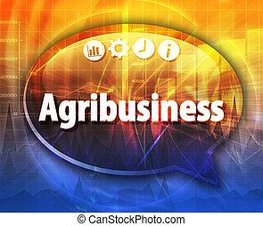 agribusiness, negócio, termo, borbulho fala, ilustração