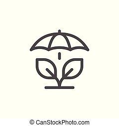 agricole, ligne, assurance, icône