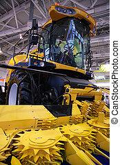 agricolo, machinery., correggiato, selettore rotante