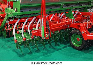 agricolo, machinery., disco, seminatrice