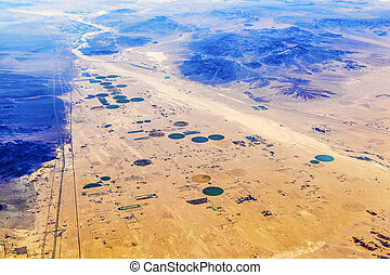 agricoltura, california, deserto