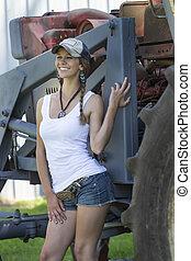 agriculteurs, fille