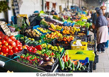 agriculteurs, porto, portugal, market.