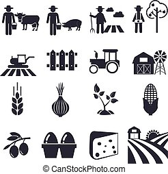 agricultura, ícones