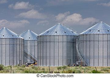 agricultura, armazenamento, silos