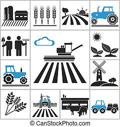 agricultura, iconos