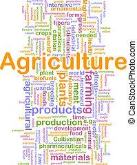 agricultura, palavra, nuvem