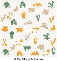agricultura, seamless, patrón