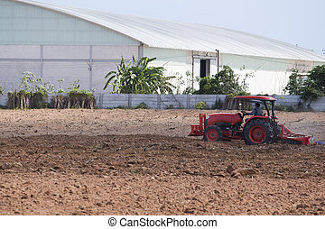 Agricultura,  tractor-landscape