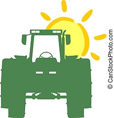 agricultura, trator, trabalhando