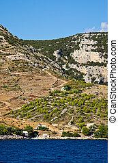 Agricultural area on the Hvar island, Croatia